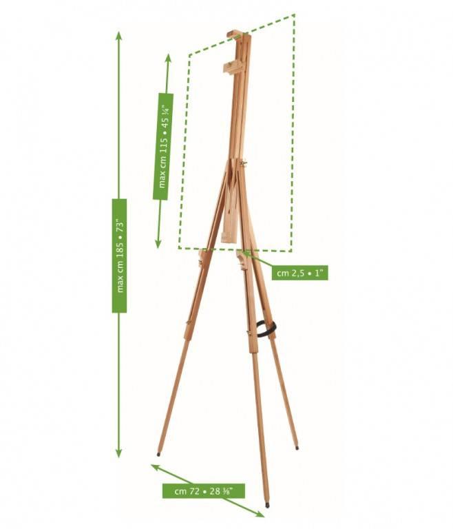 Malířský stojan plenérový Mabef dřevěný