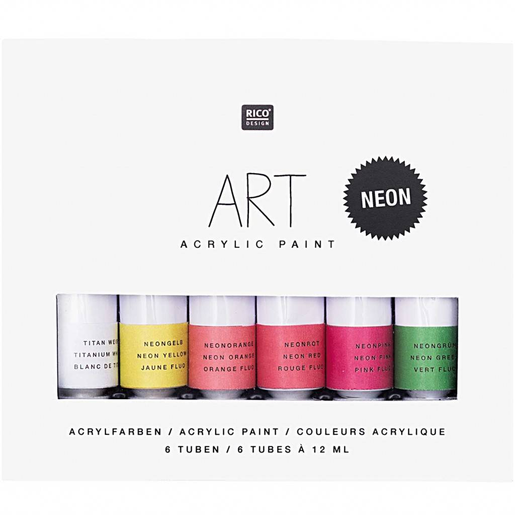 Sada akrylových barev Neon 6x12ml