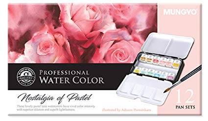 Profesionální akvarelové barvy 12ks - Pastelové odstíny