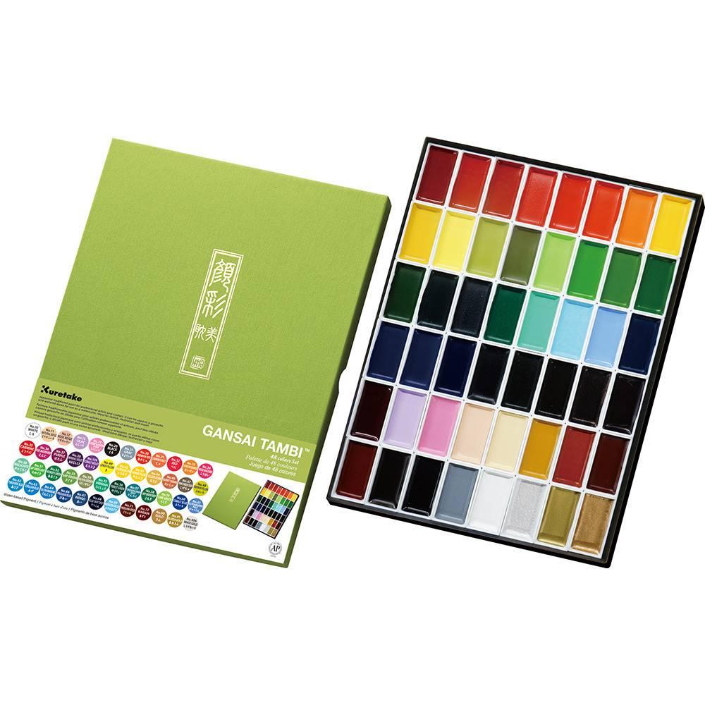Akvarelové barvy Gansai Tambi - sada 48ks
