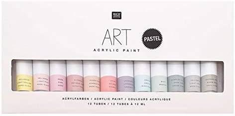 Sada akrylových barev Pastel 12x12ml