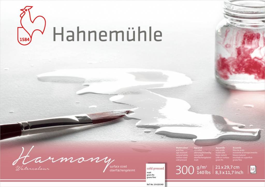 Akvarelový blok Harmony A4 - za studena lisovaný