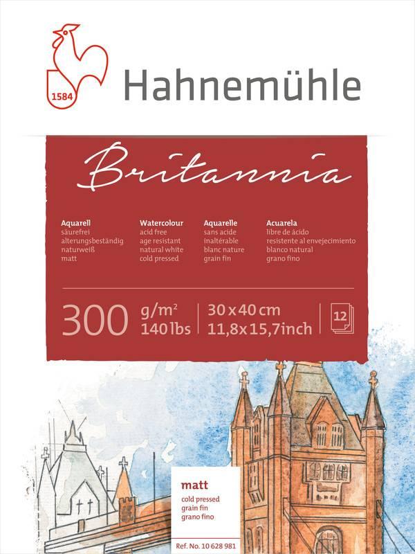 Akvarelový blok Britannia A3 - za studena lisovaný