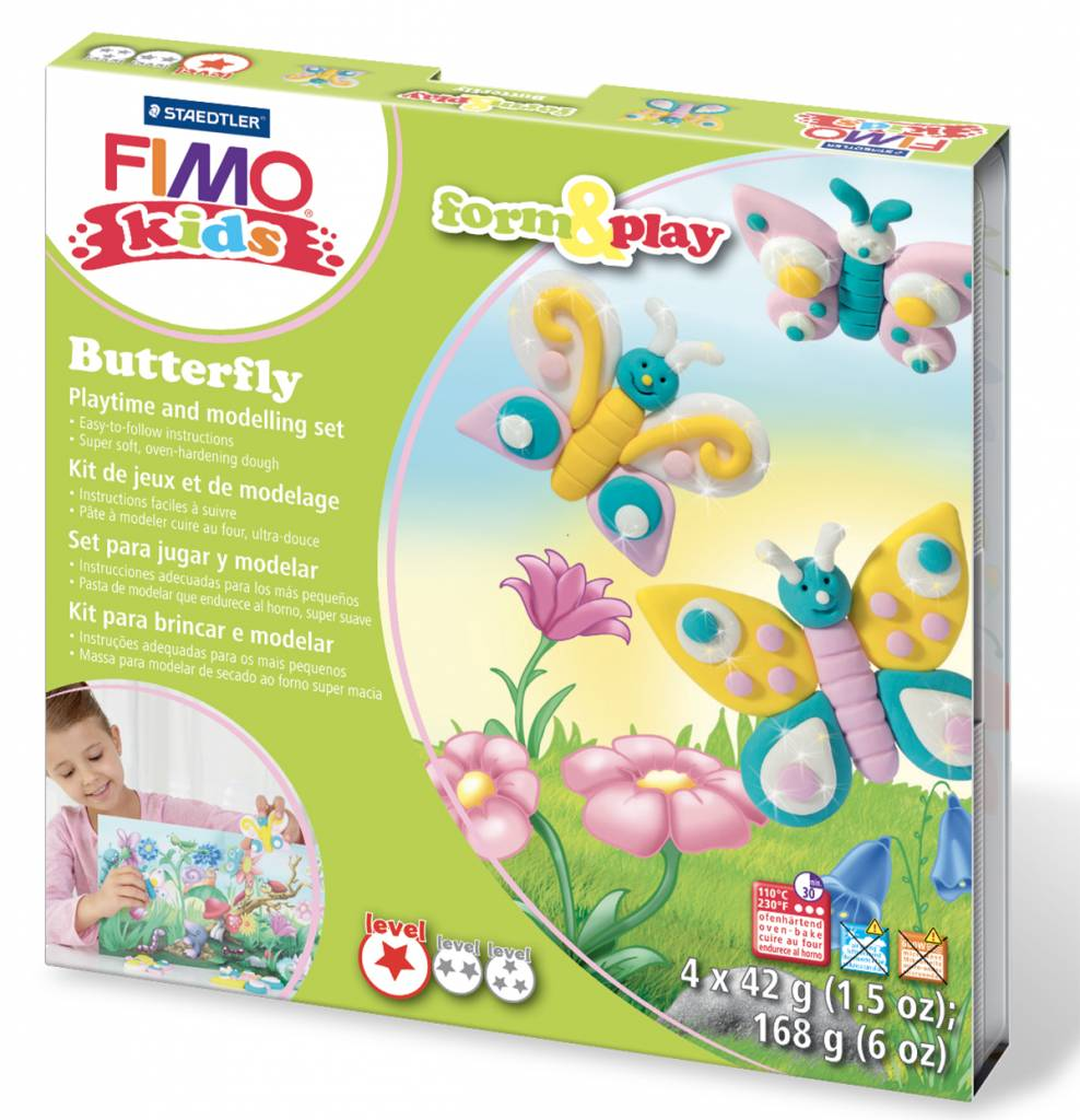 Sady Fimo KIDS Staedtler: Motýlci - Sada Fimo Kids