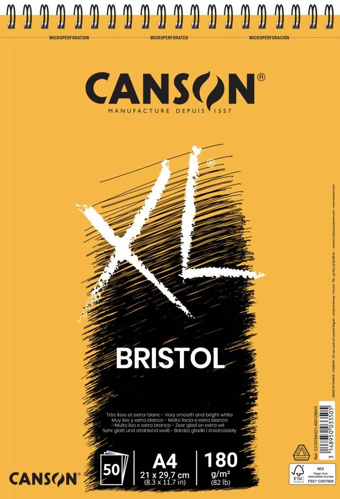 Blok XL Bristol  A4 180g/m2