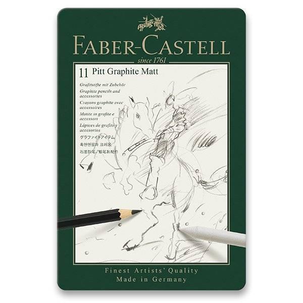 Grafitové tužky Faber-Castell Pitt Graphite Matt - sada 11ks