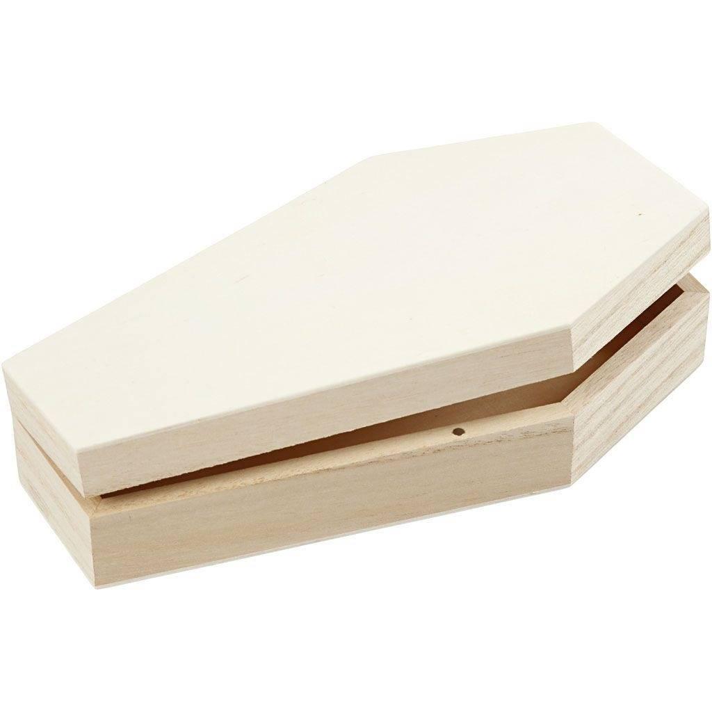 Dřevěná krabička Rakev 18x10cm