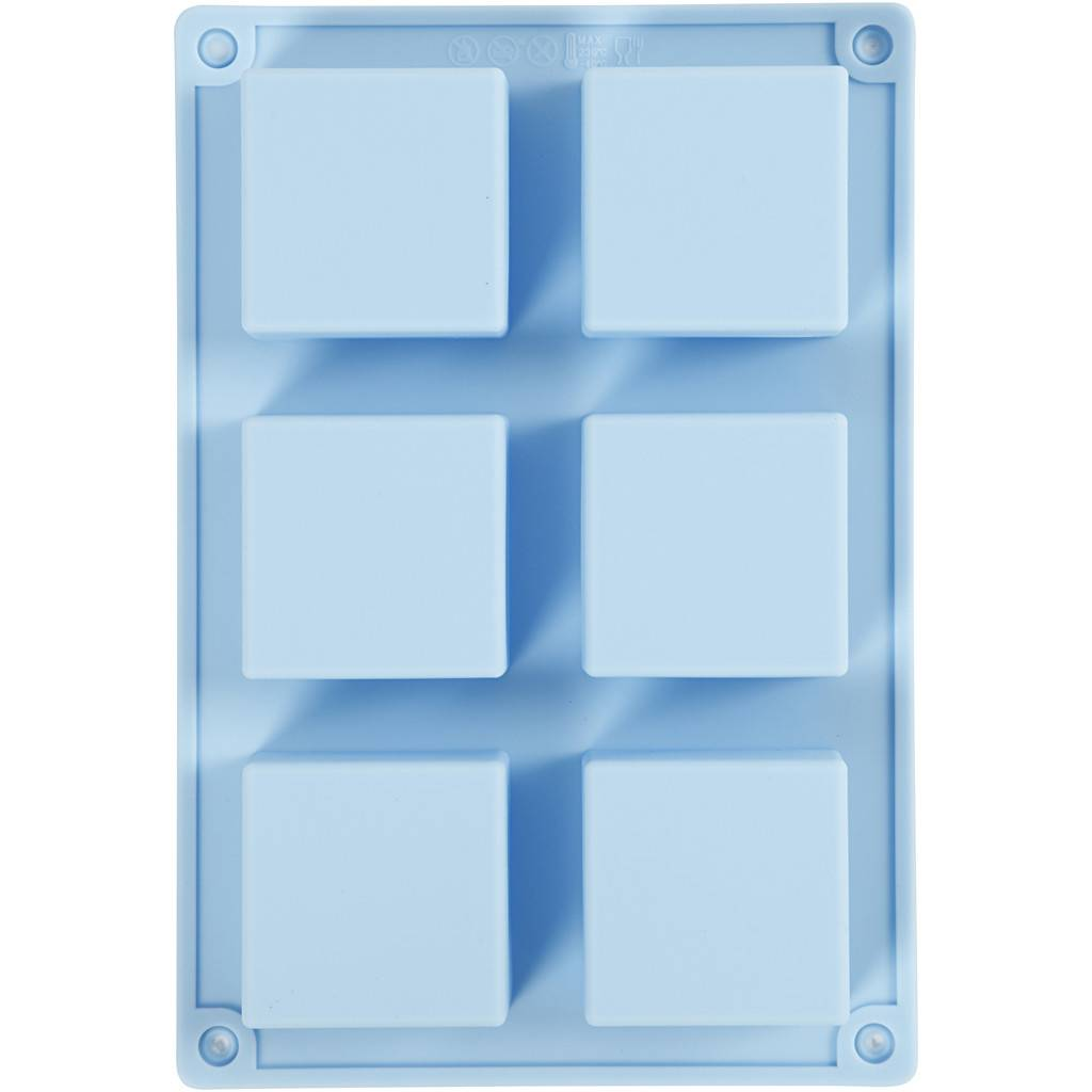 Silikonová forma Čtverce 6ks