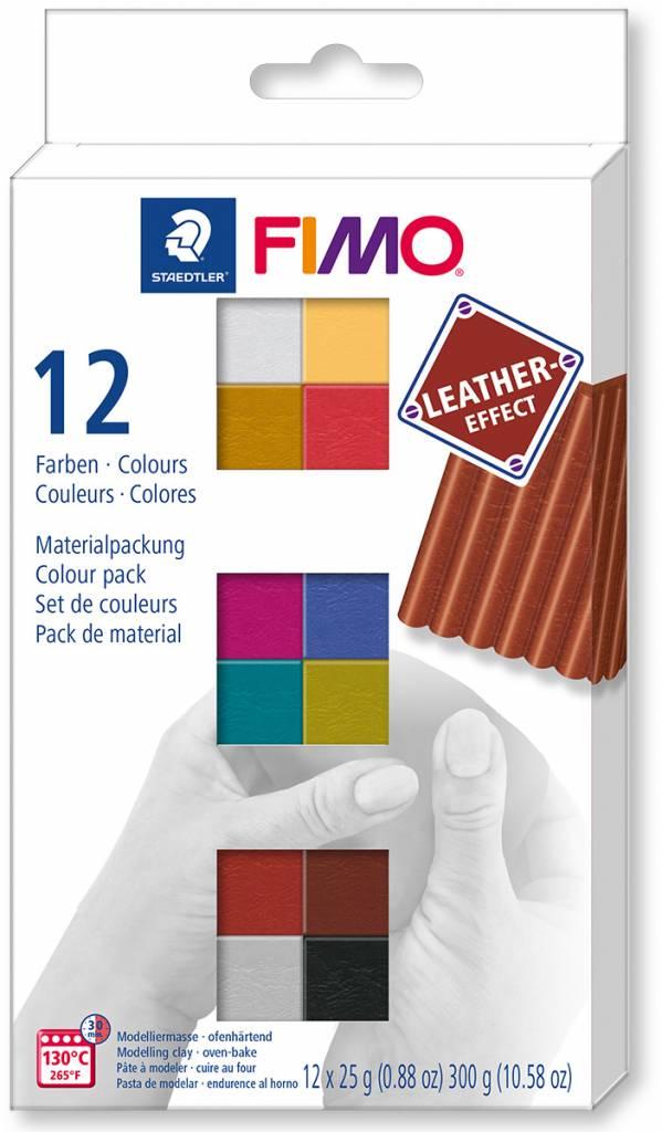 Fimo Leather Effect sada 12x25g