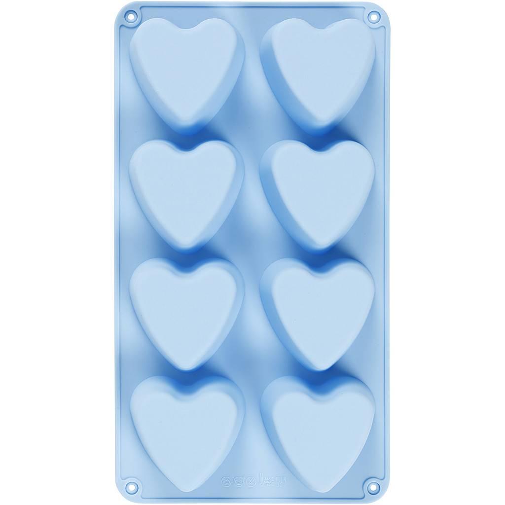 Silikonová forma Srdce 8ks