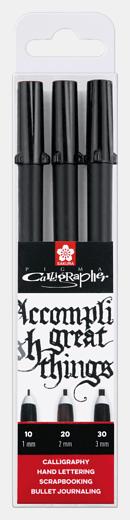Sada Pigma Calligrapher 3ks