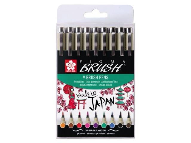 Sada Pigma Brush Pens 9ks