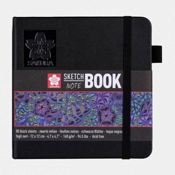 Sakura Sketch NoteBook 12x12cm černý