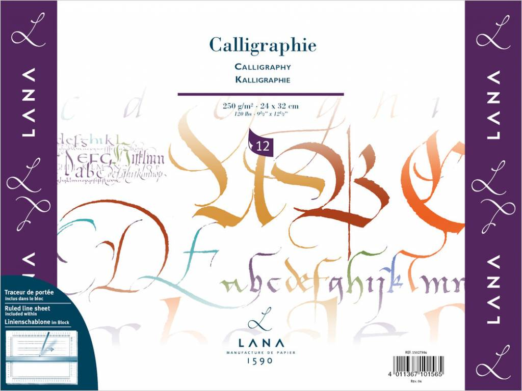 Blok na kaligrafii Lana 24x32cm