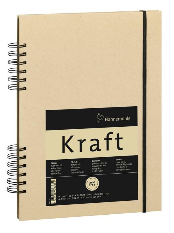 Kroužkový blok Kraft A5