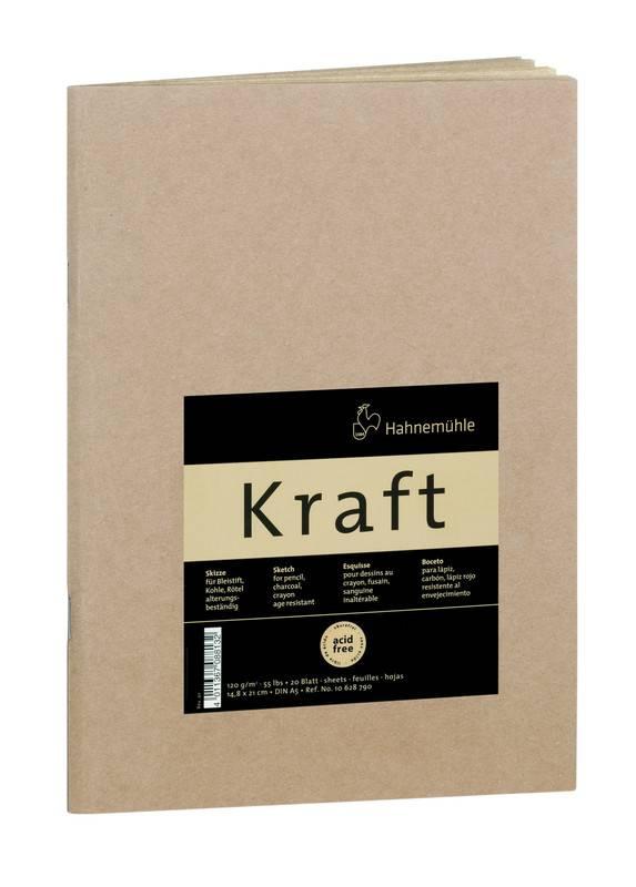 Skicovací blok - sešit Kraft A5