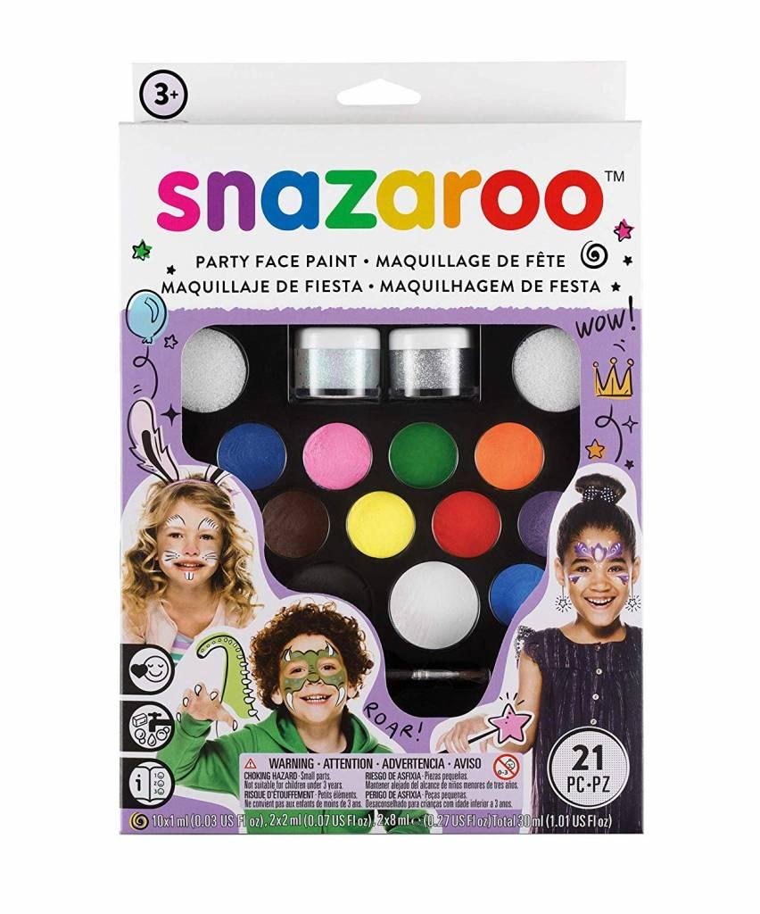 Velká sada barev na obličej Snazaroo