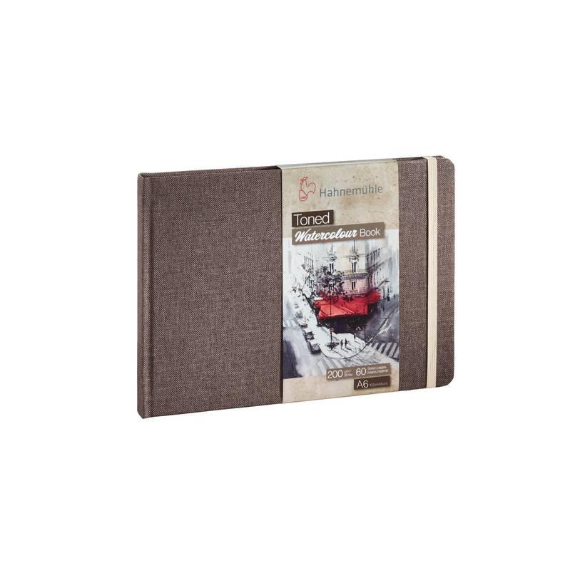 Toned Watercolour Book A6 na šířku - béžová