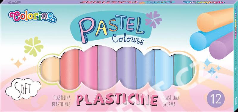 Modelovací hmota Colorino Pastel - 12 barev