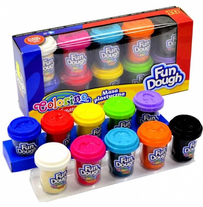 Modelovací hmota Colorino Fun Dough 10x56g