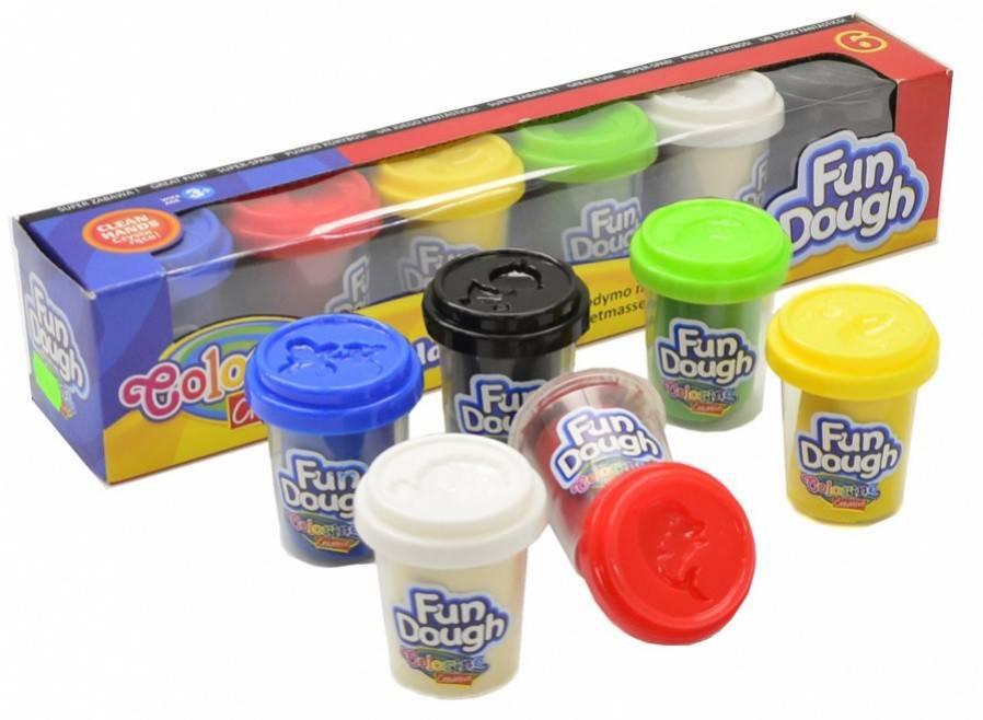 Modelovací hmota Colorino Fun Dough 6x56g