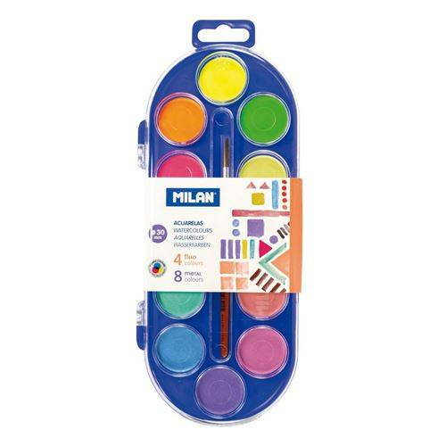 Vodové barvy Fluo-Metal 12 barev