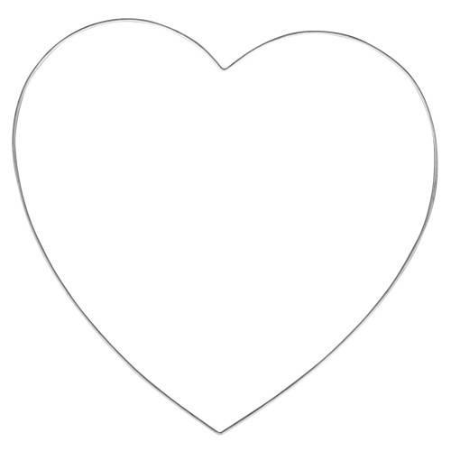 Drátěný polotovar Srdce 35cm