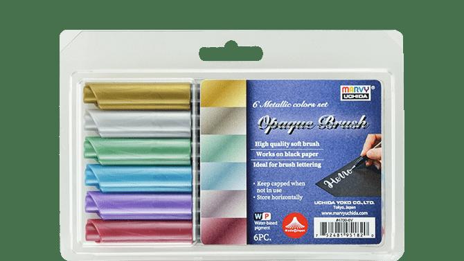 Sada popisovačů Opaque Brush Metallic 6ks