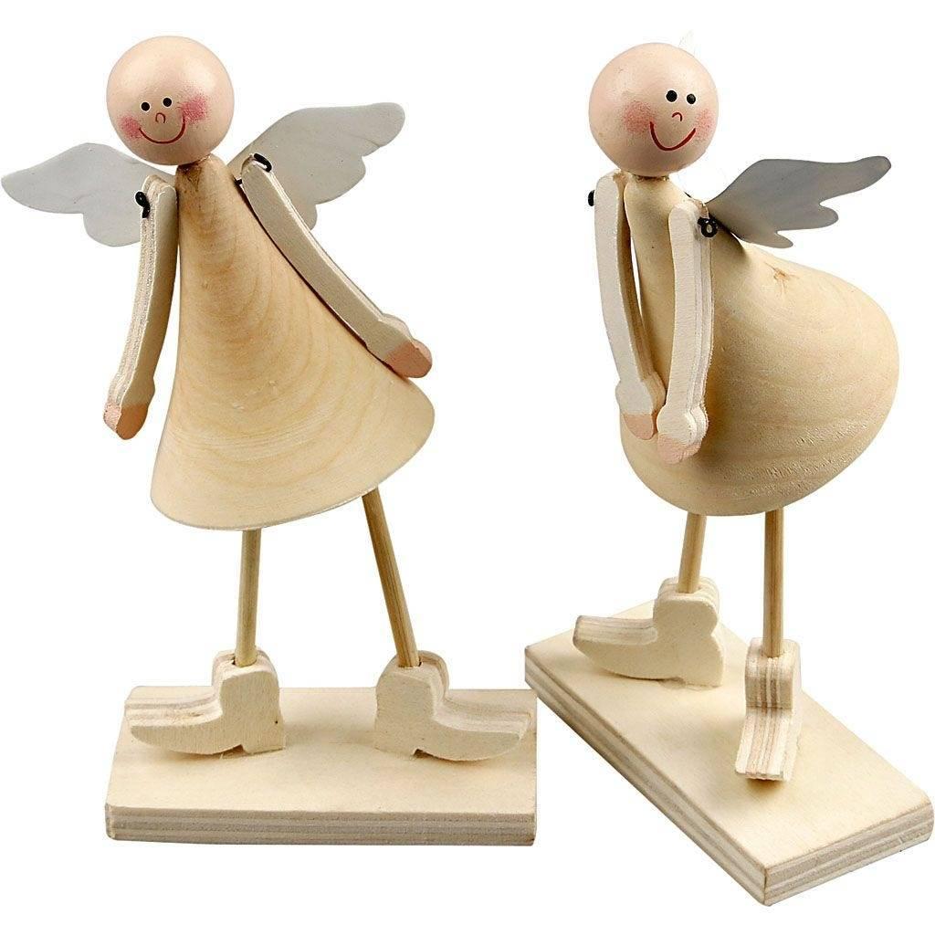 Dřevěný Anděl 2ks